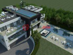 居外网在售西班牙6卧6卫的新建房产总占地2697平方米