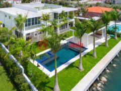 居外网在售美国迈阿密海滩5卧5卫的房产总占地1229平方米USD 7,395,000