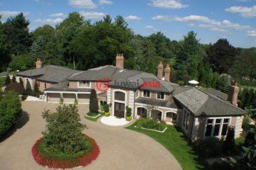 居外网在售美国5卧7卫最近整修过的房产总占地8083平方米USD 3,499,000