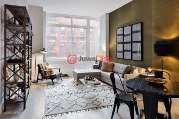 美国房产房价_纽约州房产房价_曼哈顿房产房价_居外网在售美国曼哈顿1卧1卫的房产总占地81平方米USD 1,385,000