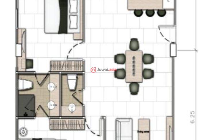 毗邻顶级五星级酒店andara,基于项目本身的设计,最大化还原最原生态的