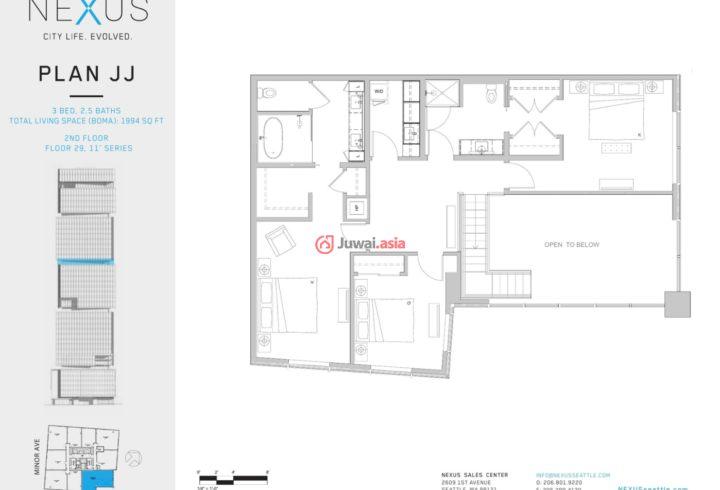 美国华盛顿州西雅图的新建房产,1808 Minor Avenue,编号37291073
