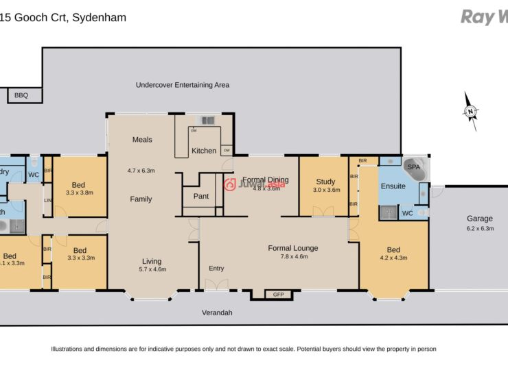 first class presentation, this home is set wide across a 1475sq